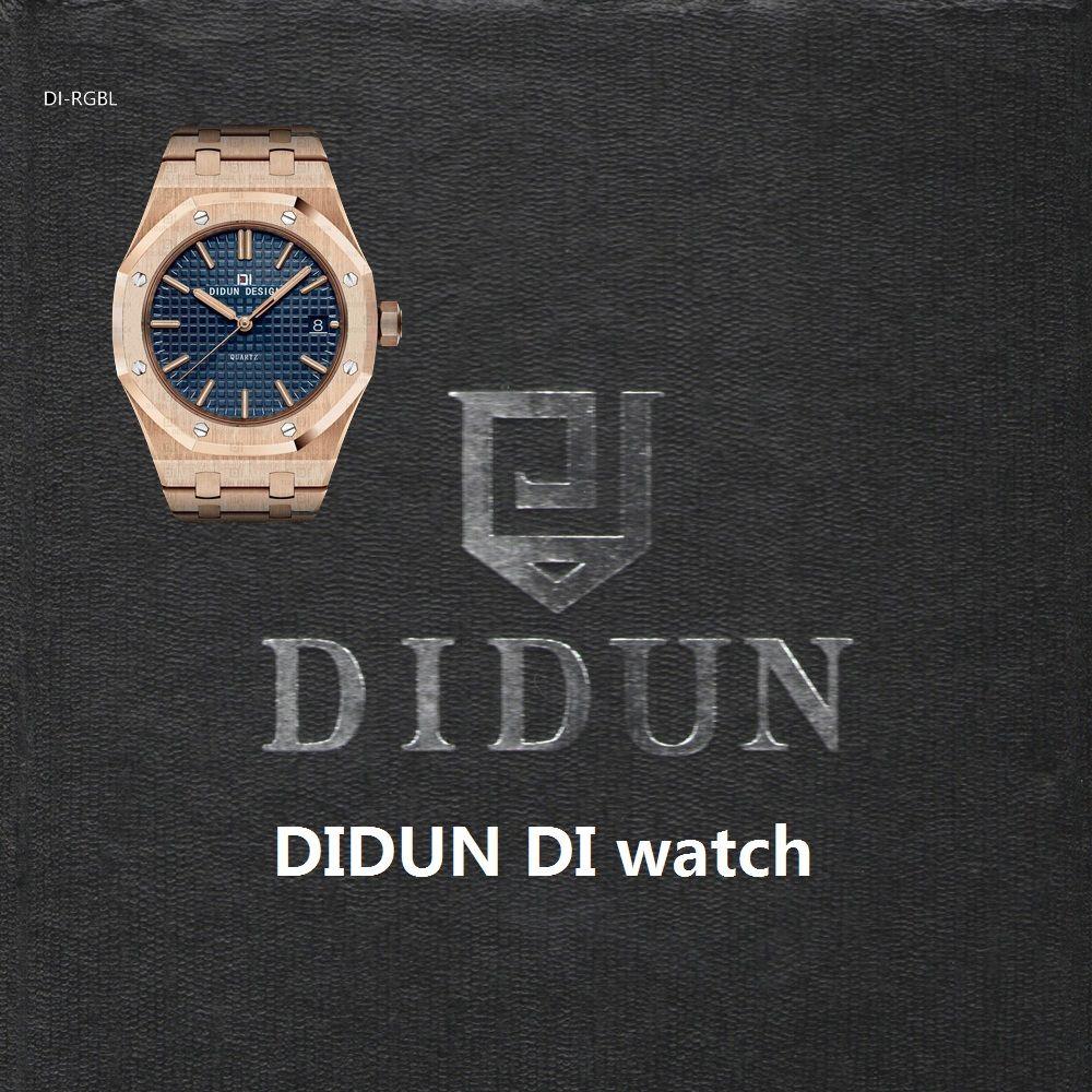 DIDUN Watches Men Luxury Brand watches Mens steel Quartz Watches Men Dress Business Watch Luminous Wristwatch 30m Waterresistant