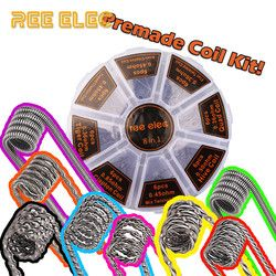 8 in 1 Alien Fused Tiger Clapton Coil Mix Twisted Flat Twisted Hive Quad A1 Premade Coils Kit For RDA RTA Atomizer Prebuilt Coil