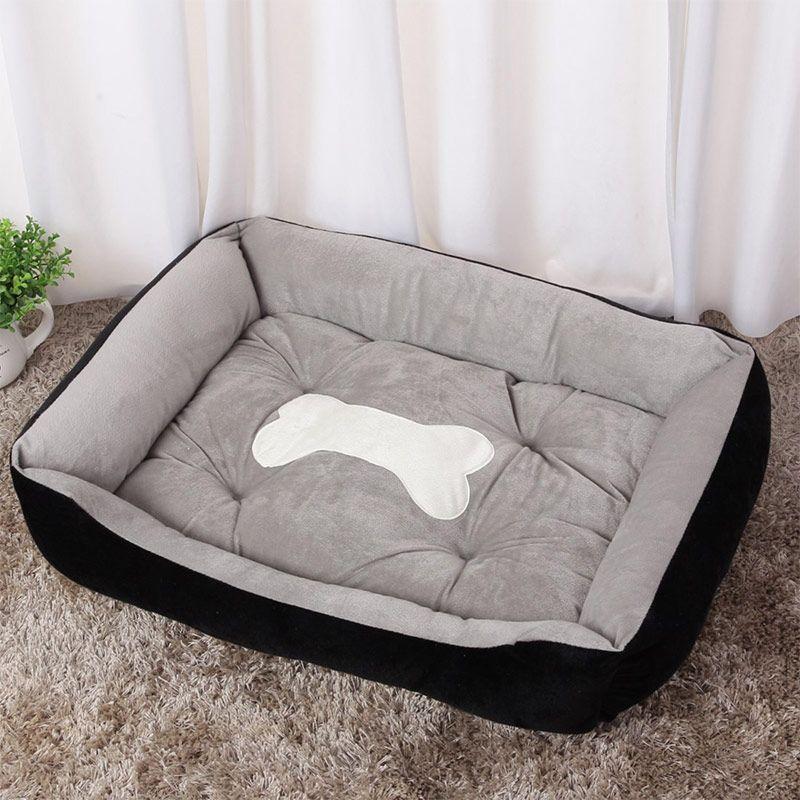 Dog Bed Warming Kennel Washable Pet Floppy Extra Comfy Plush Rim Cushion and Nonslip Bottom All Size Dog House