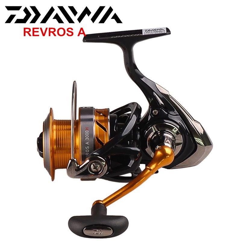 100% Daiwa REVROS A Spinning Fishing Reel 2000/2500/3000H/3500/4000 5BB Saltwater Freshwater Carp Feeder Wheel With Air Rotor