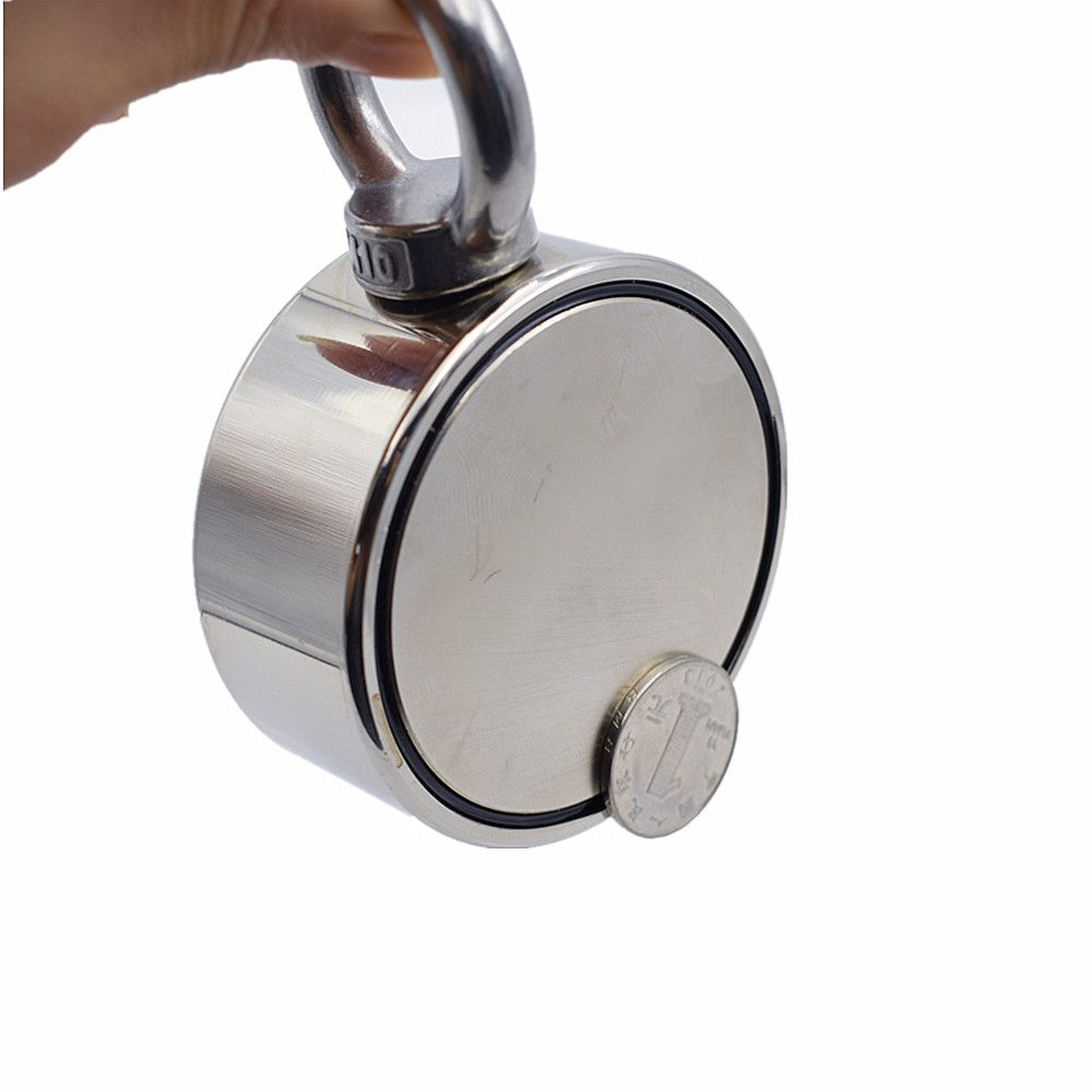 1pc D75mm Holder strong powerful fishing salvage Double-side neodymium Magnet Pulling Mounting Pot with ring gear sea  equipment