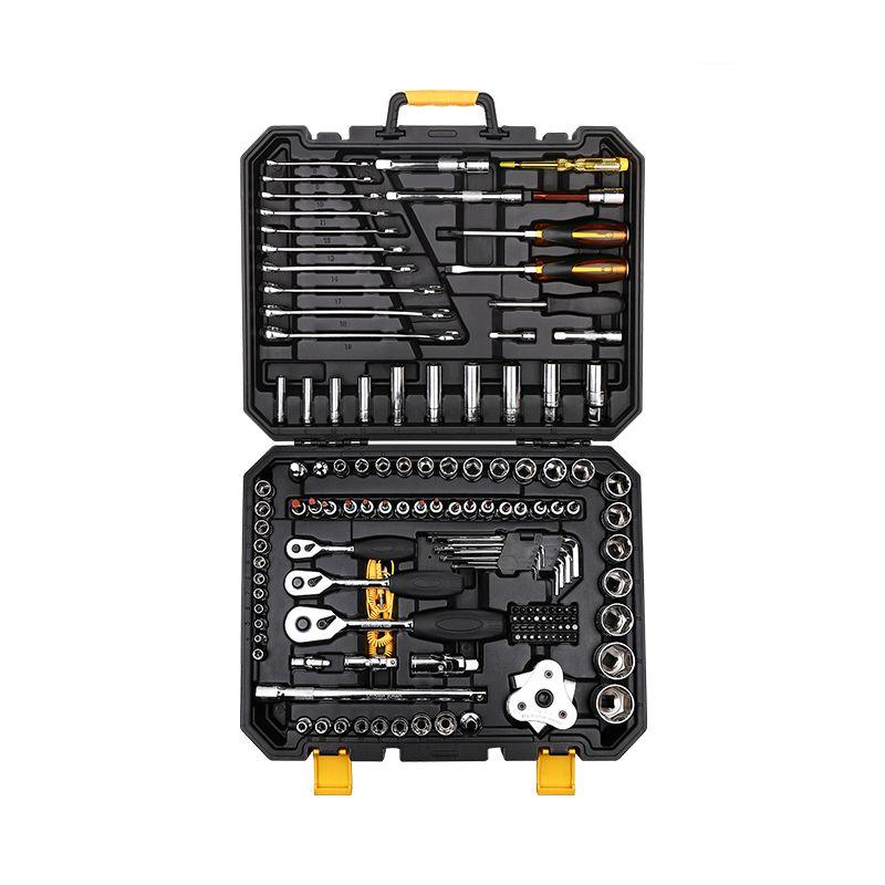 DEKOPRO 140 Pcs Professional Car Repair Tool Set Auto Ratchet Spanner Screwdriver Socket Mechanics Tools Set W/ Blow-Molding Box