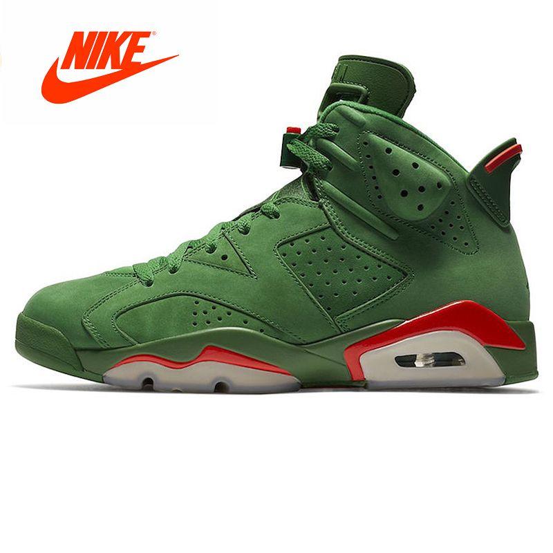 Original 2018 New Arrival Authentic Nike Air Jordan 6 Gatorade AJ6 Gatorade Green Suede Men's Basketball Shoes Outdoor Sneakers