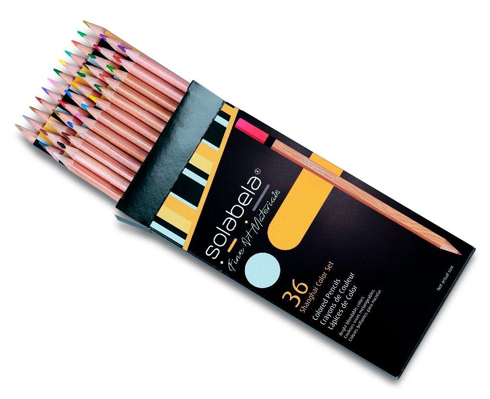 Solabela 36 couleurs crayons de couleur en bois de cèdre triangulaire ensemble de crayons à base d'huile Non toxique sûr pour l'écriture de fournitures d'art de dessin