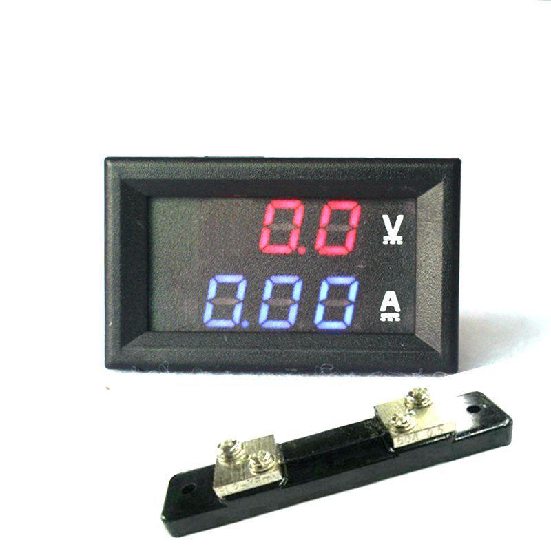 2 en 1 DC Volt Amp double affichage compteur 0.28