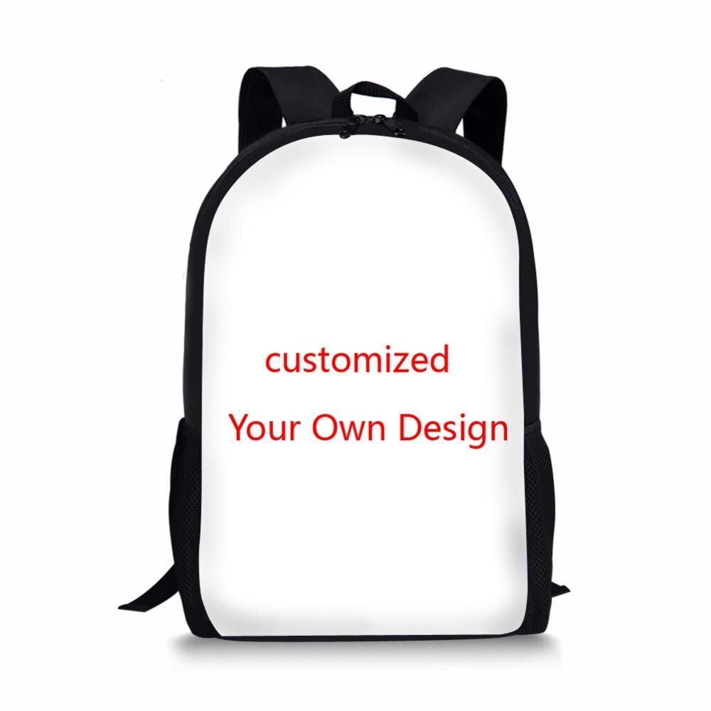 FORUDESIGNS Customized Your Own Design School Bags for Boys Girls Children Cartoon Anime School Backpack Satchel