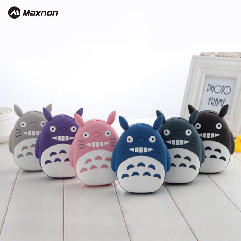 MAXNON Nouvelle arrivée 10000 mAh portable LED totoro puissance banque universal cartoon cas de batterie externe chargeur Pour iPhone 6 s Xiao mi