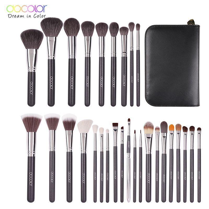 Docolor 29 PCS Professional Make-Up Pinsel Set Machen Up Pulver Pinsel Lidschatten Lip Pinsel Schönheit Kosmetische Werkzeuge Kit maquillage