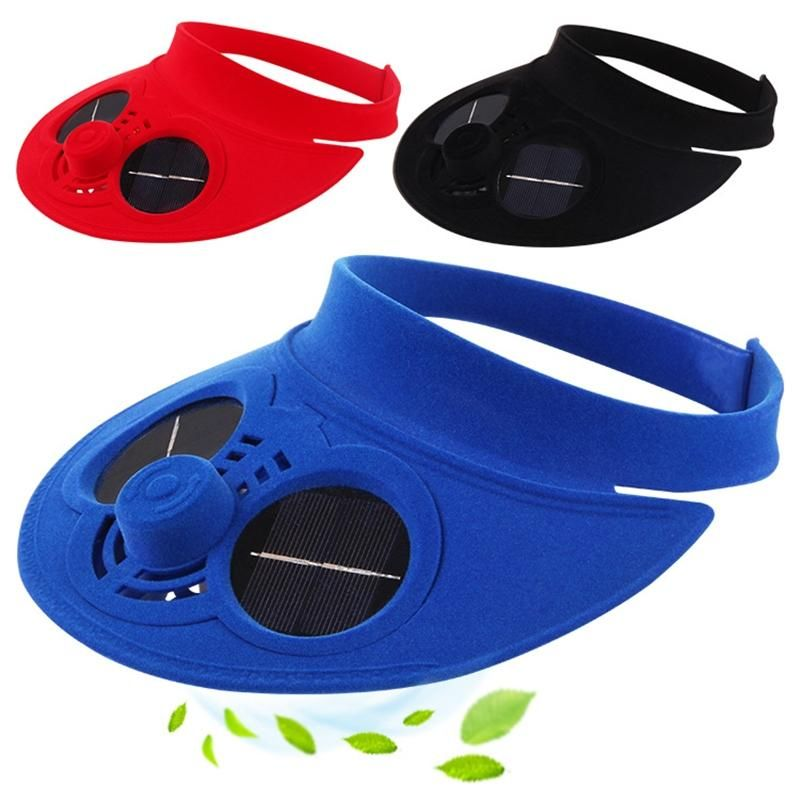 LumiParty Camping Traveling Cycling Cap Summer Sports Cap Baseball Hat Solar Powered Fan Cooling Cap Outdoor Activities