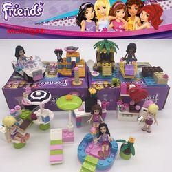 Gadis Andrea Mia Olivia Stephanie Emma Andrea Blok Belajar Hadiah Blok Bangunan Hadiah Mainan Kompatibel dengan Teman-teman legoe
