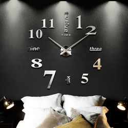 2018 New Home decoration big mirror wall clock modern design 3D DIY large decorative wall clocks watch wall unique gift