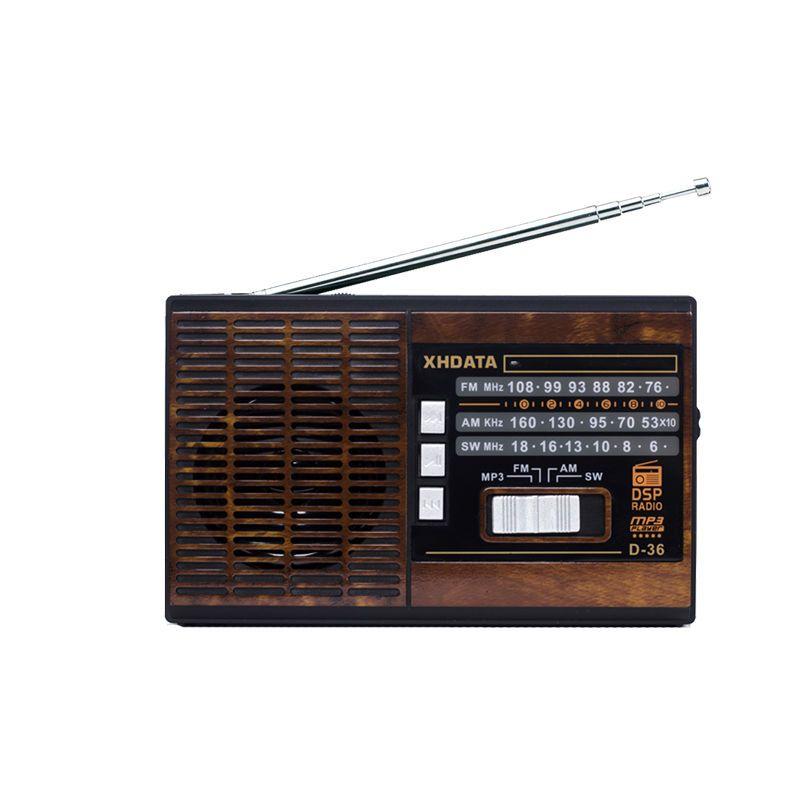 XHDATA D-36 FM/AM/SW Portable Haut-parleurs Bande Radio avec MP3-Music-Player