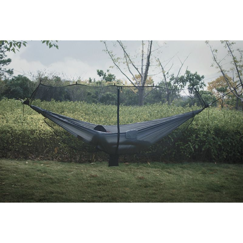 275g Ultralight Portable Hammock Mosquito Net For Outdoor <font><b>Survival</b></font> Nylon Material Anti-Mosquito Nets With 340*140cm Super Size