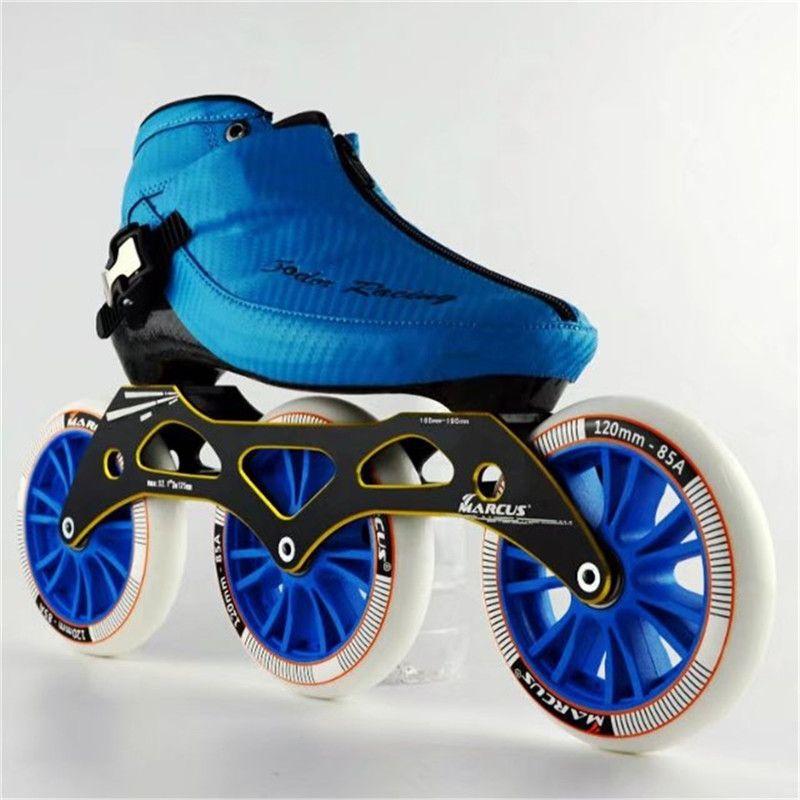 Carbon Fiber Fiberglas Geschwindigkeit Inline Skates 3*120 Rad Kind der Erwachsene Wettbewerb Street Racing Sport Schuhe Training Patines f030