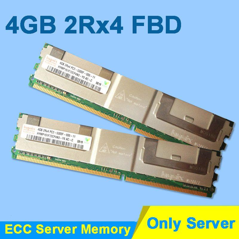 For Hynix DDR2 4GB 2GB 8GB 16GB DDR2 667MHz PC2-5300 2Rx4 FBD ECC PC2-5300F FB-DIMM RAM Only For Server Memory Lifetime Warranty