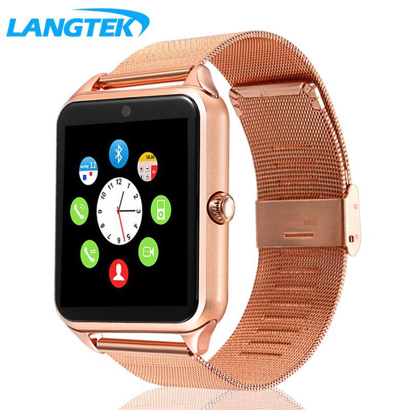 Langtek Смарт-часы gt22 Bluetooth Подключение для iphone телефона Android Умная электроника с сим-карты SmartWatch телефон