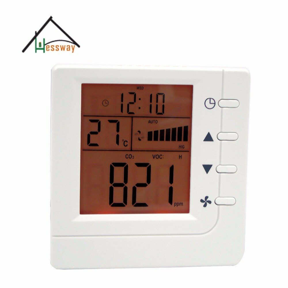 Intelligent discolor controller Air Controller VOC CO2 switch Relay fan Ventilator control with RS485