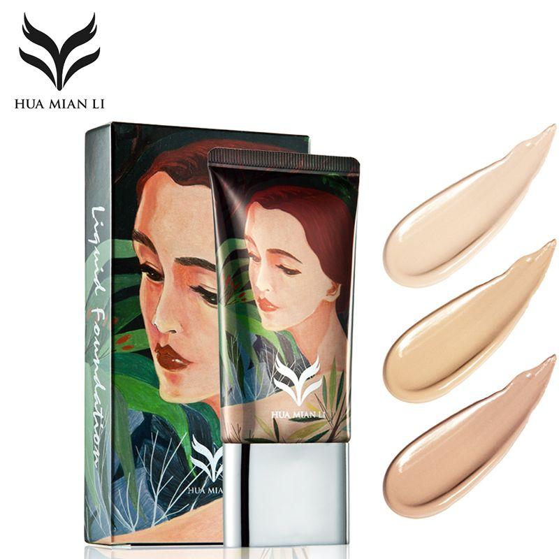 HUAMIANLI Marke Flüssige Foundation Base Make-Up Erhellen Wasserdicht Feuchtigkeitscreme BB CC Creme Concealer Nude Primer Gesicht Kosmetik