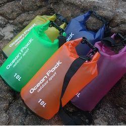 2L 5L 10L Outdoor Tahan Air Berenang Hulu Tas Ember Karung Tas Penyimpanan Trekking Sungai Arung Jeram Kayak Tas Travel