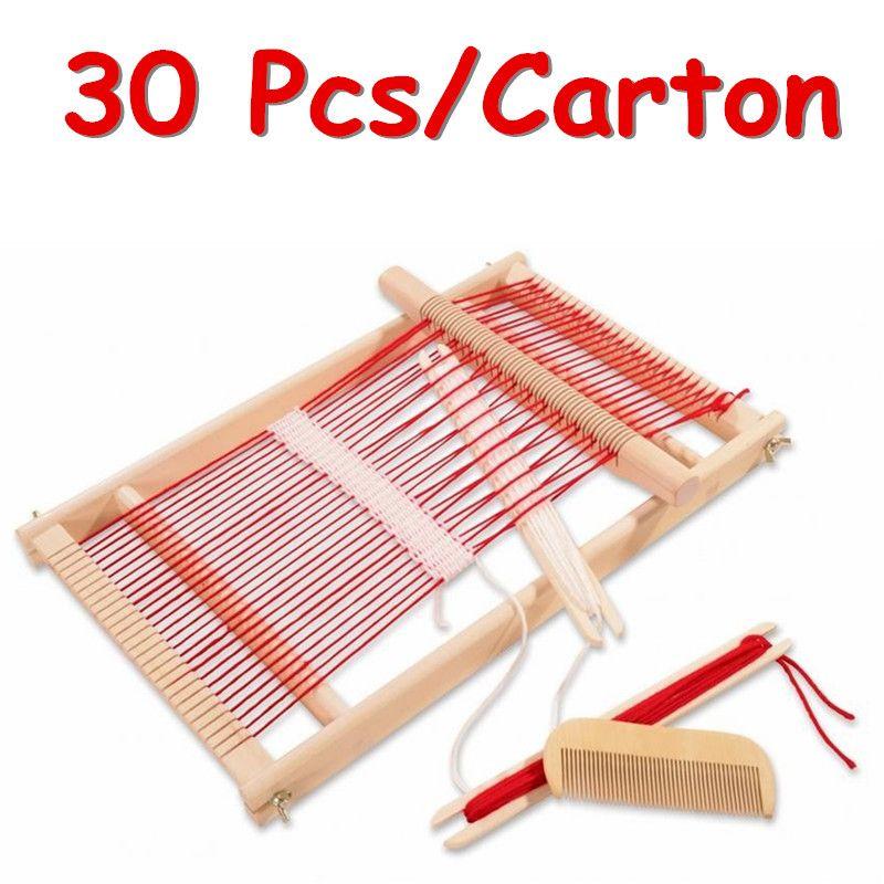 Fcl großhandel 30 stücke/karton webstuhl traditionelle toys kinder pretend play handwerk weben frams pädagogisches geschenk
