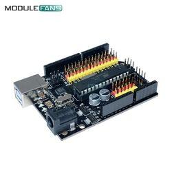 Uno R3 PLUS Papan Kompatibel UNTUK ARDUINO Atmega328P Atmega16u2 Ekspansi Pengembangan Mikrokontroler Perisai Modul SPI IIC Satu
