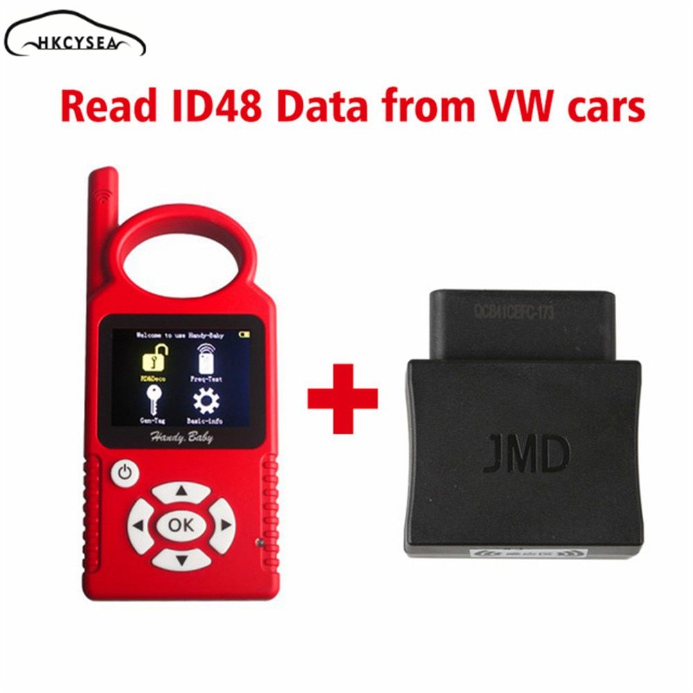Handy Baby V9.0.0 CBAY Hand-held Car Key Copy for 4D/46/48 Chips+JMD Assistant OBD Adapter for VW
