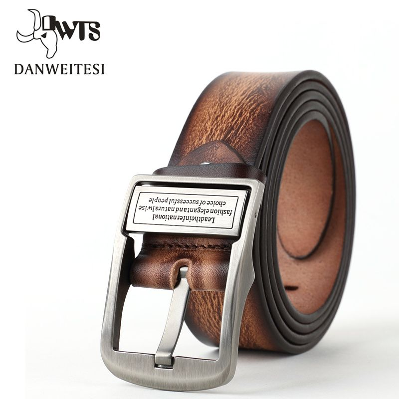 [DWTS] 2018 mens belts luxury leather men's belts pin buckle fashion genuine leather strap classical style ceinture homme