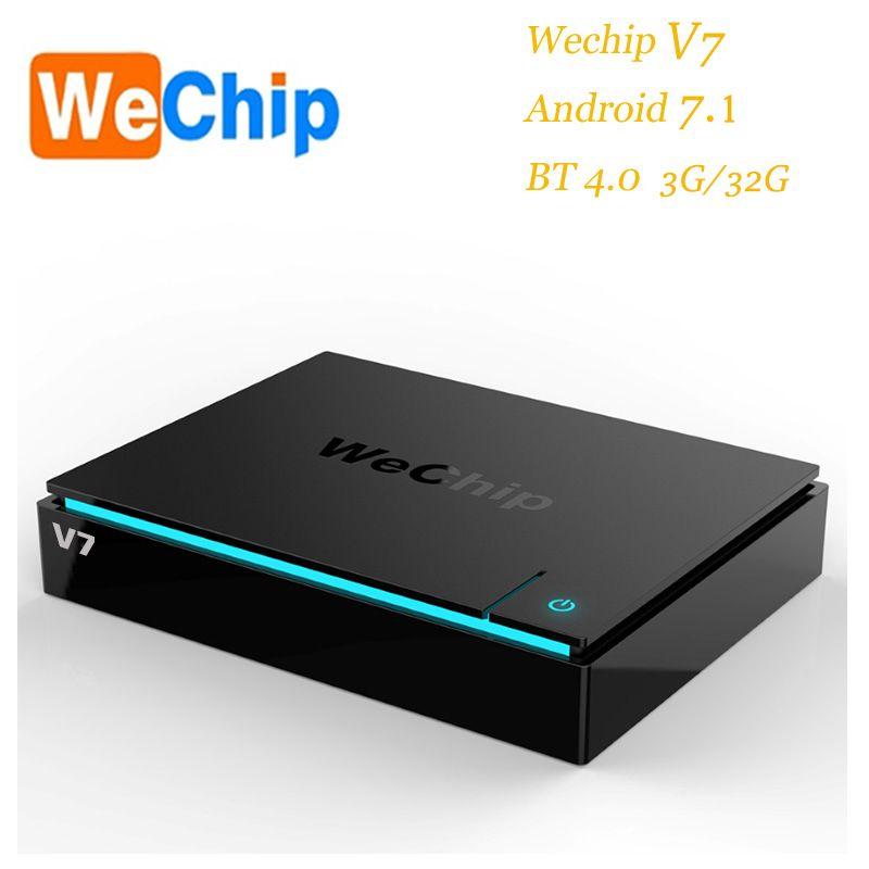 Wechip V7 Amlogic S-912 Octa-Core Cortex-A53 Android 7.1 Mali-T820MP3 3GB+32GB Dual WIFI BT TV BOX EU