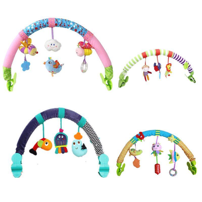 Vente chaude belle Poussette Tour Siège De Voiture Lit Suspendu jouets bébé de Voyage de jeu Nouveau-Né infantile bébé Jouets éducatifs hochets mobile