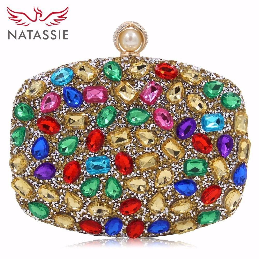 NATASSIE 2018 New Arrival Women Clutch Female Luxury Evening Clutches Ladies Weeding Bags