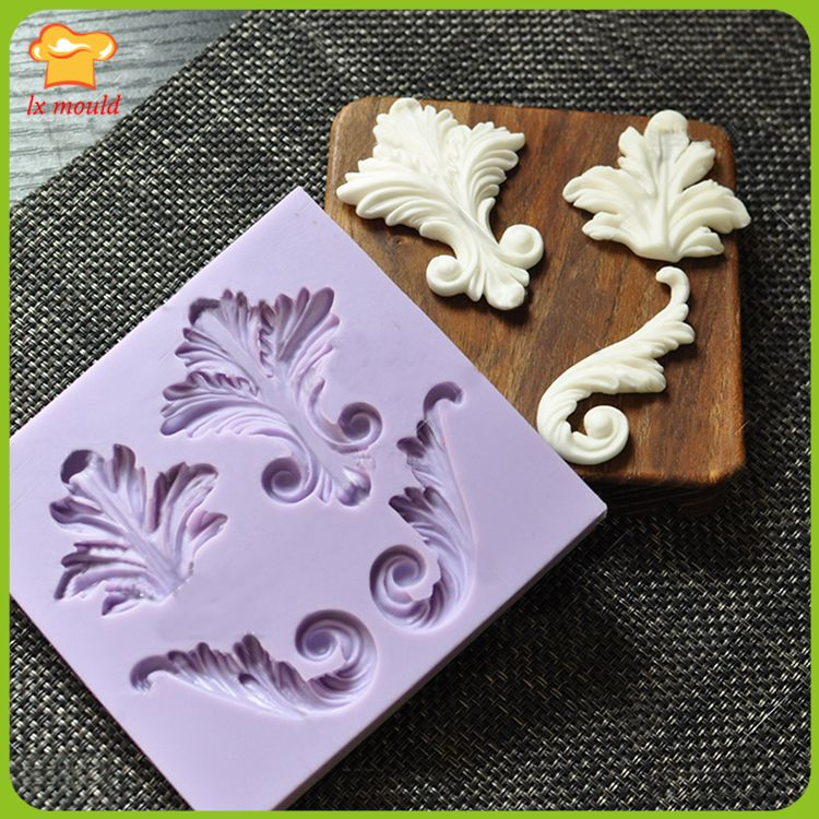 Pace dry silicone mold  Fondant food-grade silicone mold  retro symmetry totem Collection