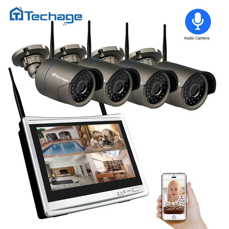 Techage 4CH 1080 p Drahtlose CCTV System 12