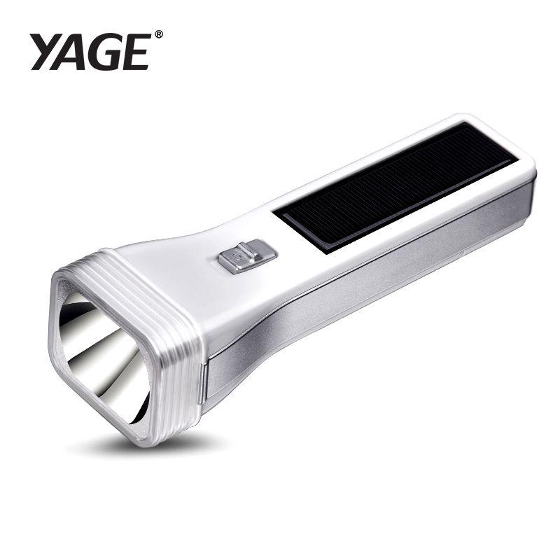 YAGE énergie solaire LED lampe de poche LED en plein air étanche économie d'énergie multifonctionnel lampe de poche torche lumière dure 400 mAh batterie