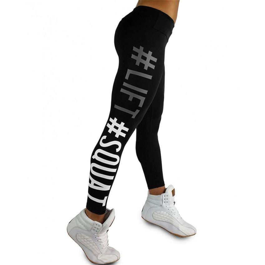 Nouveauté Lift Squat lettre impression taille haute femmes Leggings pantalon respirant femme Fitness Leggins pantalon décontracté pour les femmes