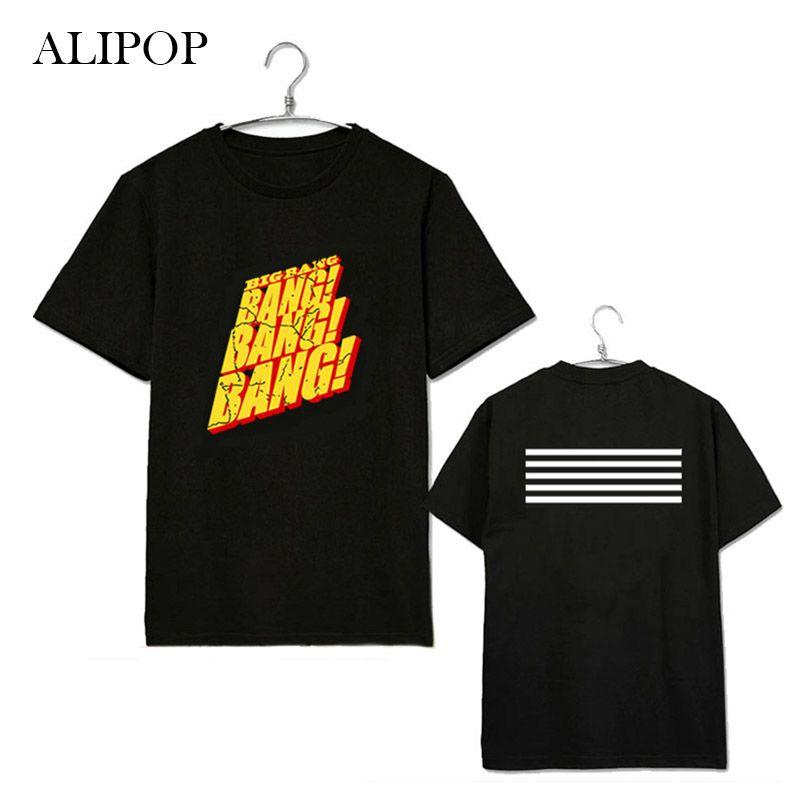 ALIPOP KPOP BIGBANG BANG GD Chemise Album Chemises K-POP Casual Coton Vêtements T-shirt T-shirt À Manches Courtes Tops T-shirt DX209