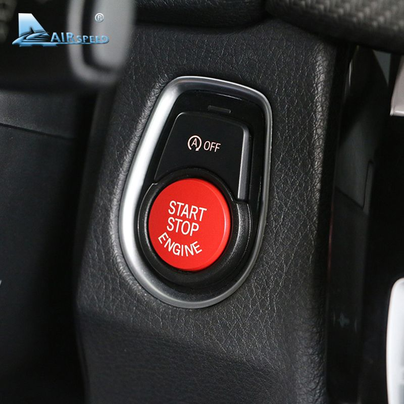Airspeed Car Engine Start Button Upgrade Accessories for BMW F20 F21 F30 F31 F10 F11 F01 F48 F25 F15 F16 Replacement Car-styling