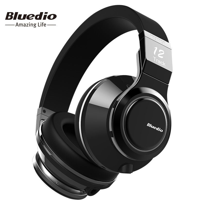 Bluedio Victory High-End Wireless Bluetooth <font><b>headphones</b></font> PPS12 drivers over ear BT 4.1 headset with microphone rotated design