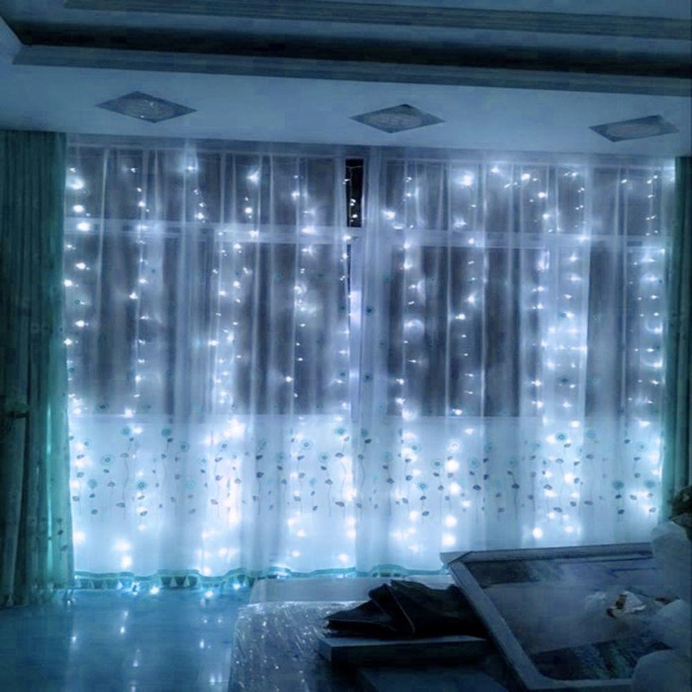 300 LED s rideau LED chaîne lumières nouvel an guirlandes de noël FairyParty jardin mariage décoration fée de haute qualité JQ