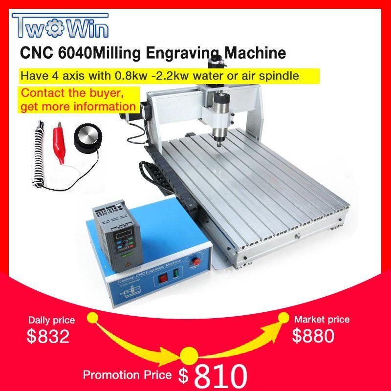 800 watt CNC 6040 Drei-achse CNC Router Engraver Gravur Fräsen Bohren Schneiden Maschine + Control box + Inverter