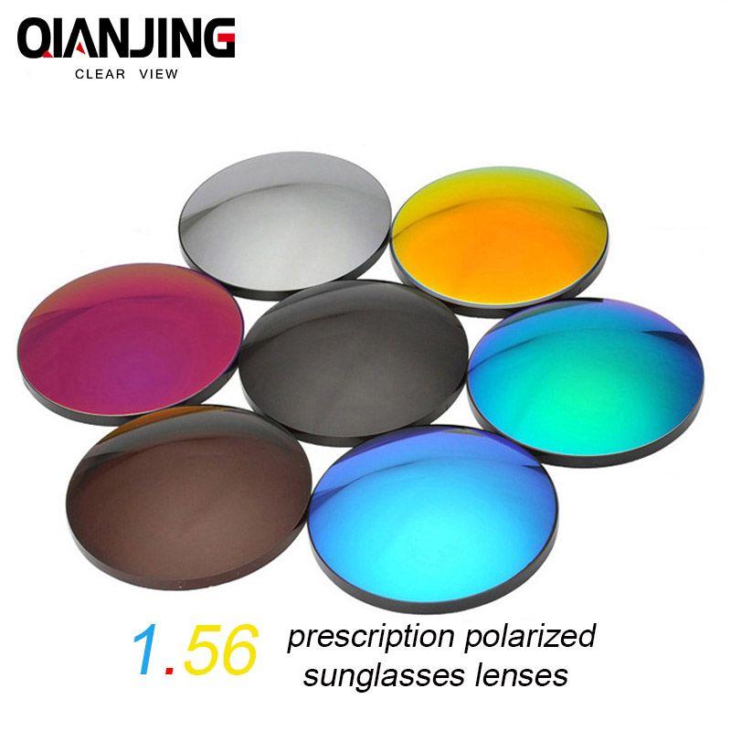 QIANJING 1.56 CR-39 Polarized Sunglasses Prescription Optical Lenses for Driving Fishing UV400 Anti-Glare Polarized Lens