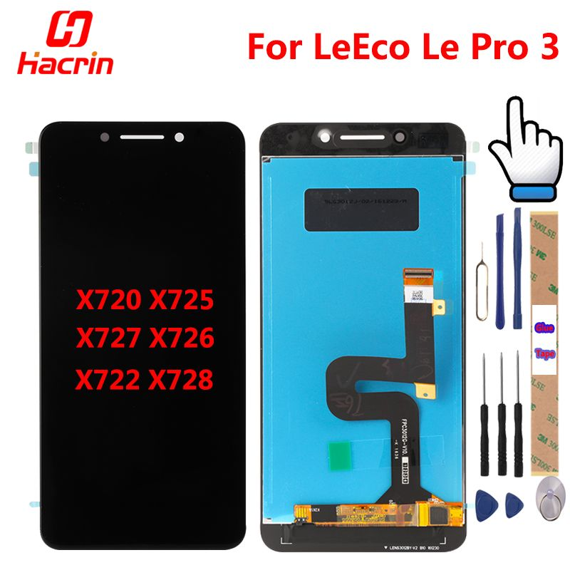 <font><b>LeEco</b></font> Le Pro 3 LCD Display Touch Screen Digitizer Assembly Replacement For Letv X720 X725 X727 X726 X722 X728
