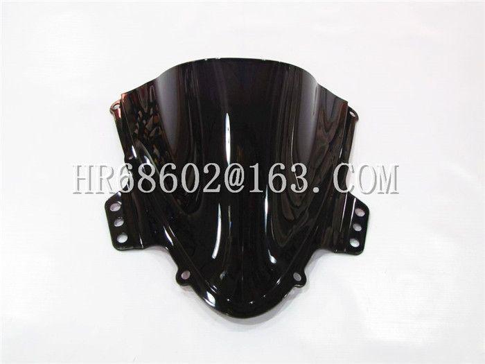 Freeshipping For Suzuki GSXR 1000 R  K5 2005 2006 gsxr 1000 r k5 05 06 Black Windshield WindScreen Double Bubble