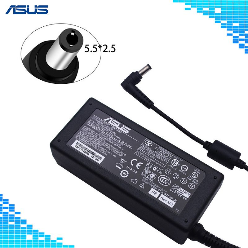 Laptop Adapter 19V 3.42A 65W 5.5*2.5mm PA-1650-02 AC Power Charger For ASUS A6000 F3 X50 X55 A3 A8 F6 F8 F83 F83CR X50 X550V V85