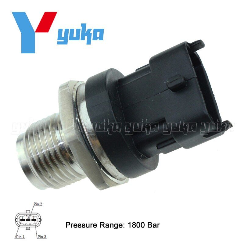 1800 Bar Fuel Rail Pressure Sensor Common Injection 31401-4A400 0281002863 314014A400 For Kia Hyundai 1.5 1.6 2.0 2.2 2.5 CRDi