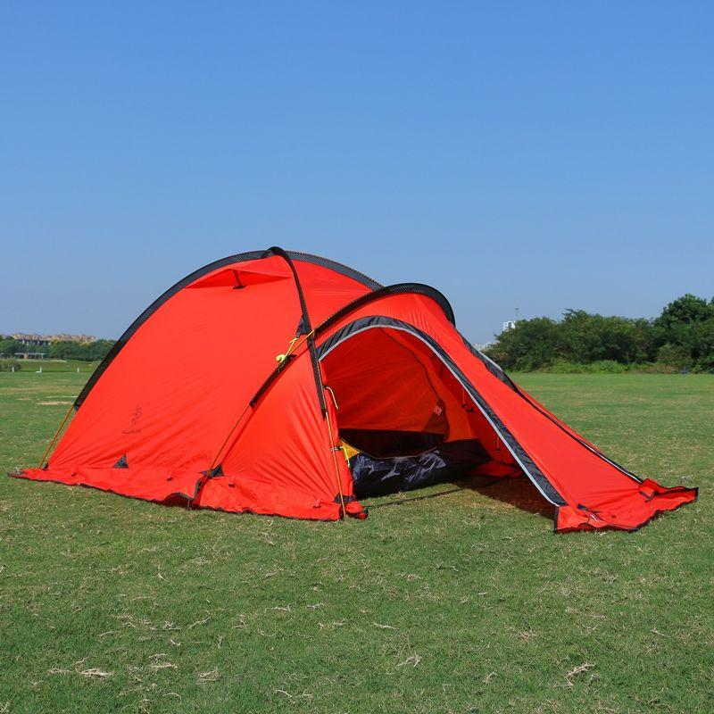 Camping Zelt 2 Person Einem Schlafzimmer ein Wohnzimmer 20D Silikon Beschichtet Doppelschichten Camp Wasserdichte Outdoor Zelt 4 Saison 2 Farben