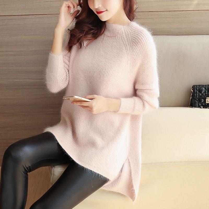 5772 - the new sweater rabbit 71 pure Mohair hem slit