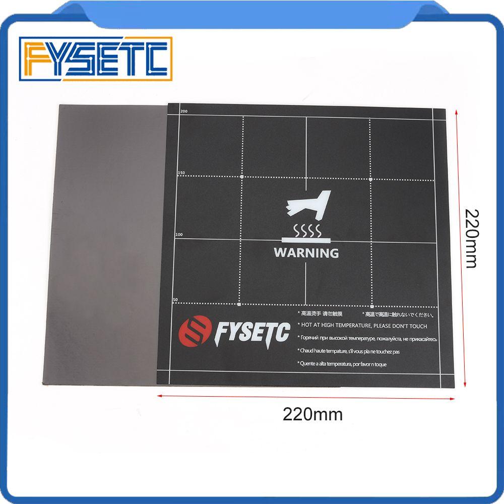 Feuille de plaque de Surface de construction de lit de chaleur magnétique 220x220mm 2 en 1 avec support adhésif 3M pour Wanhao i3 Anet A8 A6 Ender-3