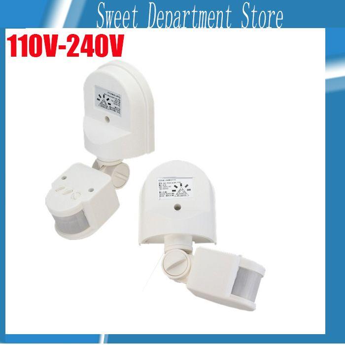 Haute Sensibilité 160 degrés de Mouvement Capteur 110-240 v/AC Infrarouge, Détecteur de Mouvement PIR Détecteur Mur Montage lumière extérieure Lampe