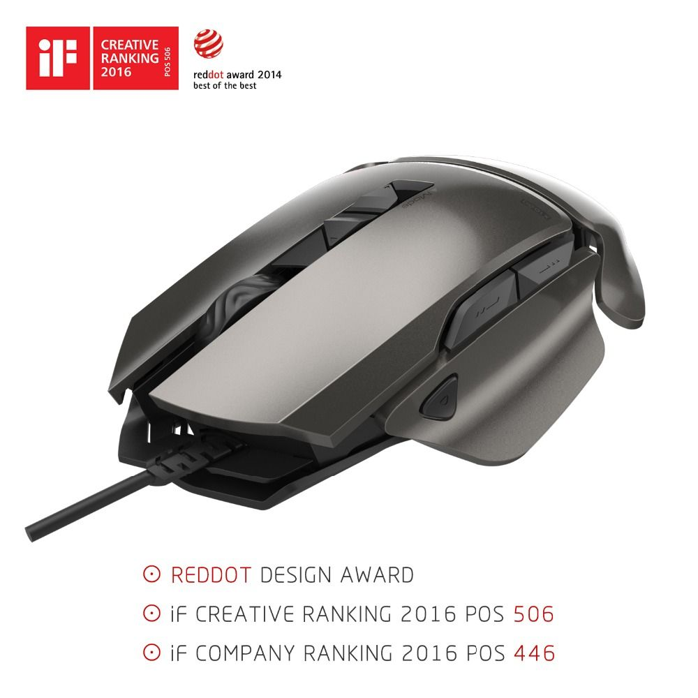 James Donkey 007 USB Wired Optical Laser Gaming Mouse 8200DPI Adjustable 7 <font><b>Buttons</b></font> with RGB Backlight For PC Mac LOL CS Gamers