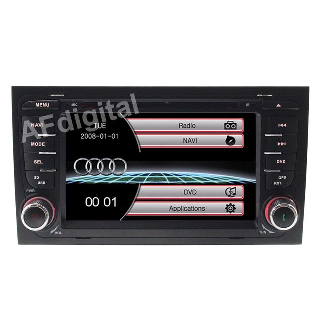 Wince 6.0 New Car DVD Player GPS Navi for Audi A4 2002 2003 2004 2005 2006 2007 S4 RS4 8E 8F B9 B7 RNS-E Can Bus Ipod RDS USB SD